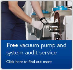 Free vacuum pump and system audit service